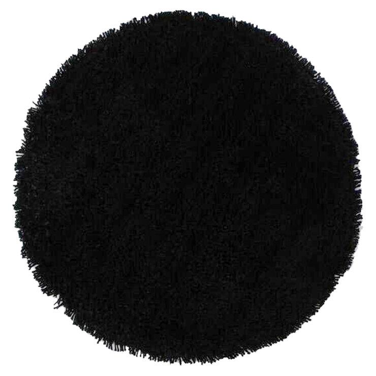 7x10 Rug: C26 Black Shag Rug