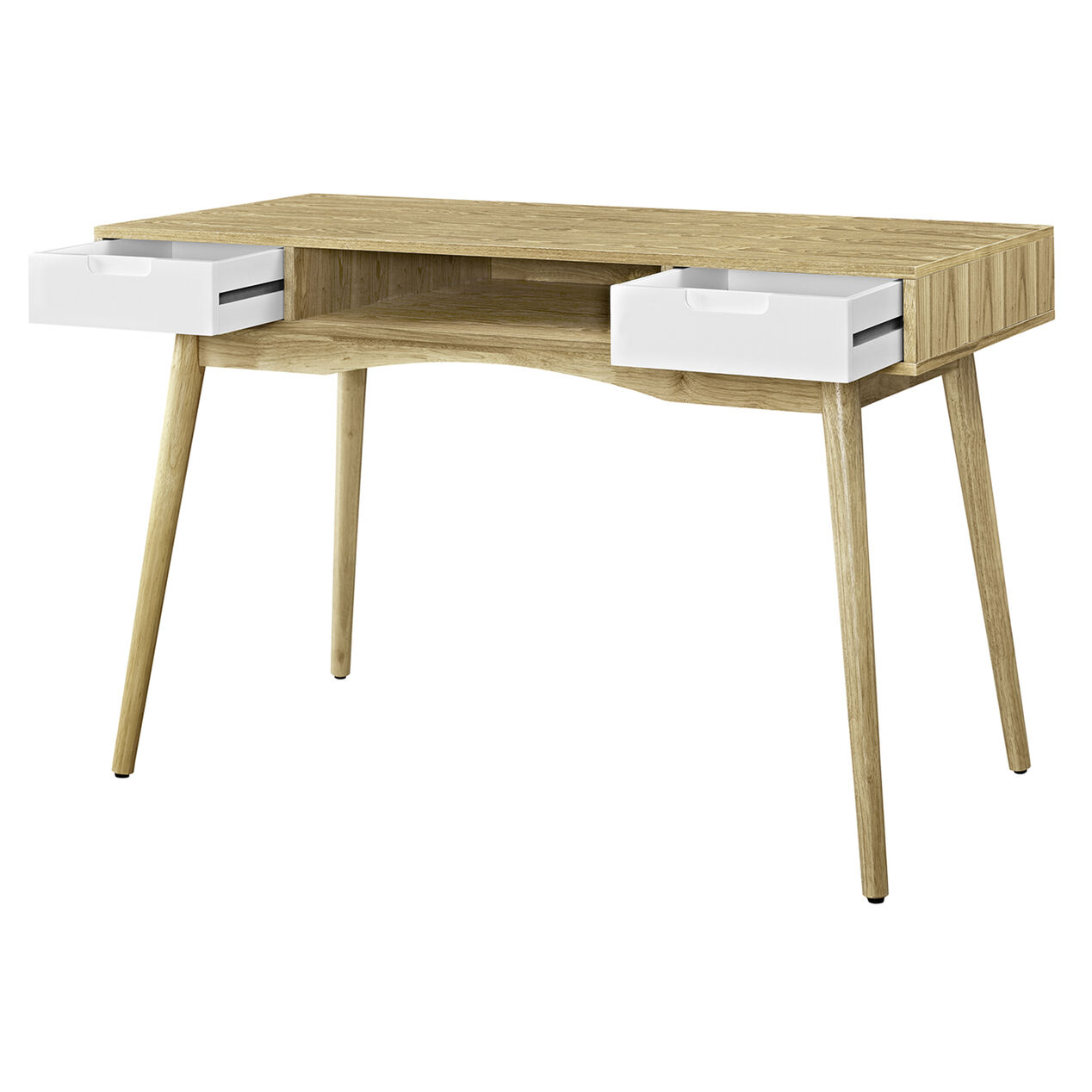 Perry Scandinavian Wood Desk At Home