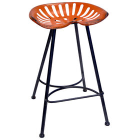 Picture of Orange Tractor Barstool 29-in
