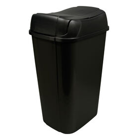 Picture of 53 Quart Pivot-Lid Wastebasket - Black
