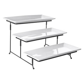 Picture of 3 Tier Rectangular Plate Set with Rack