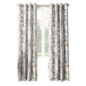 Picture of Ivory Madeline Print Window Curtain Panel 84-in