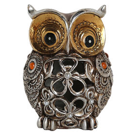"Picture of 4.8"" Gold and Silver Cutout Owl"