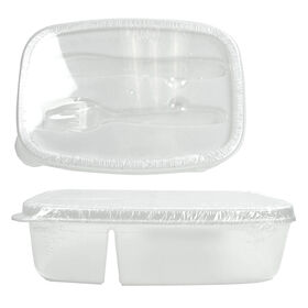 Picture of Plastic Container with Fork and Knife