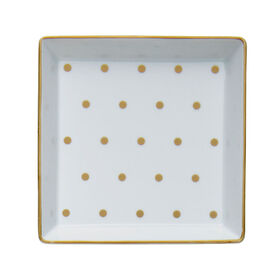 Picture of Dots Porcelain Tray 5x5-in