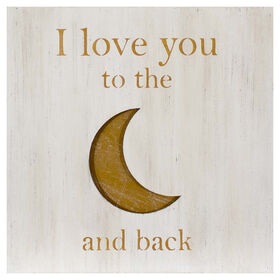Picture of 20 X 20 in. Love You to the Moon Wood Wall Art
