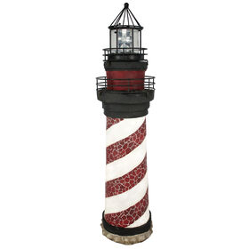 Picture of 31-in. Red Solar Lighthouse
