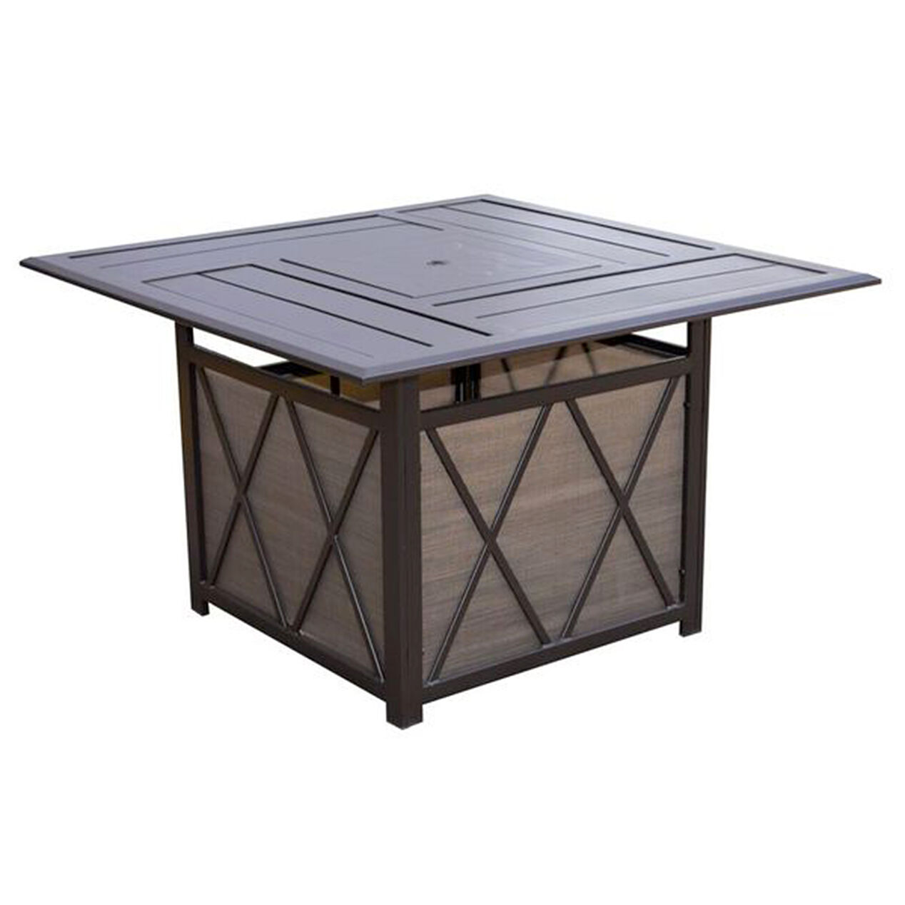 Zoom. Arlington Firepit Table  46x46 in    At Home