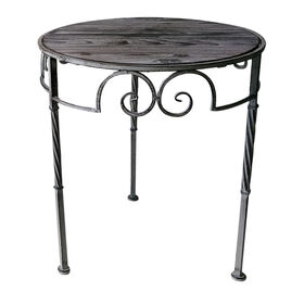 Picture of Nested Round Plant Stand with Wood and Metal - 18 in.  (sold separately)