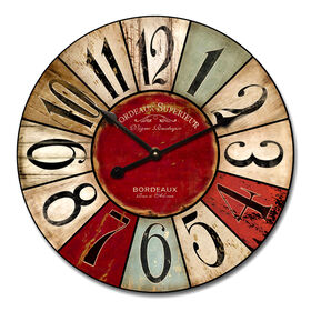 Picture of 24-in Distressed Color Patch Clock
