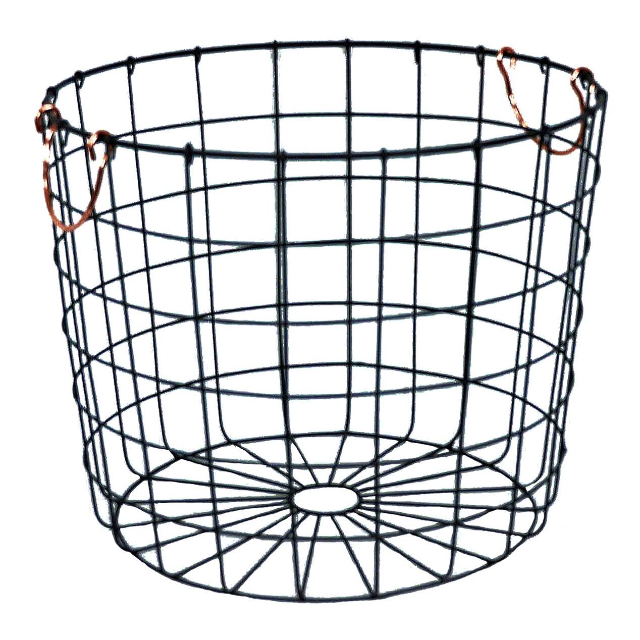 round wire basket bronze at home. Black Bedroom Furniture Sets. Home Design Ideas