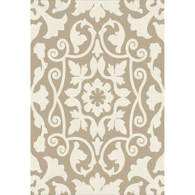 Picture of E147 Tan and Ivory Vertical Asulejo Rug