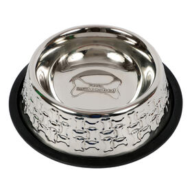 Picture of Stainless Steel Embossed Dog Bowl - Large