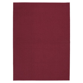 Picture of Solid Red Town Square Accent Rug 17 X 27-in
