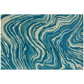Picture of A335 Teal Blue Mineral Rug - 8 X 10