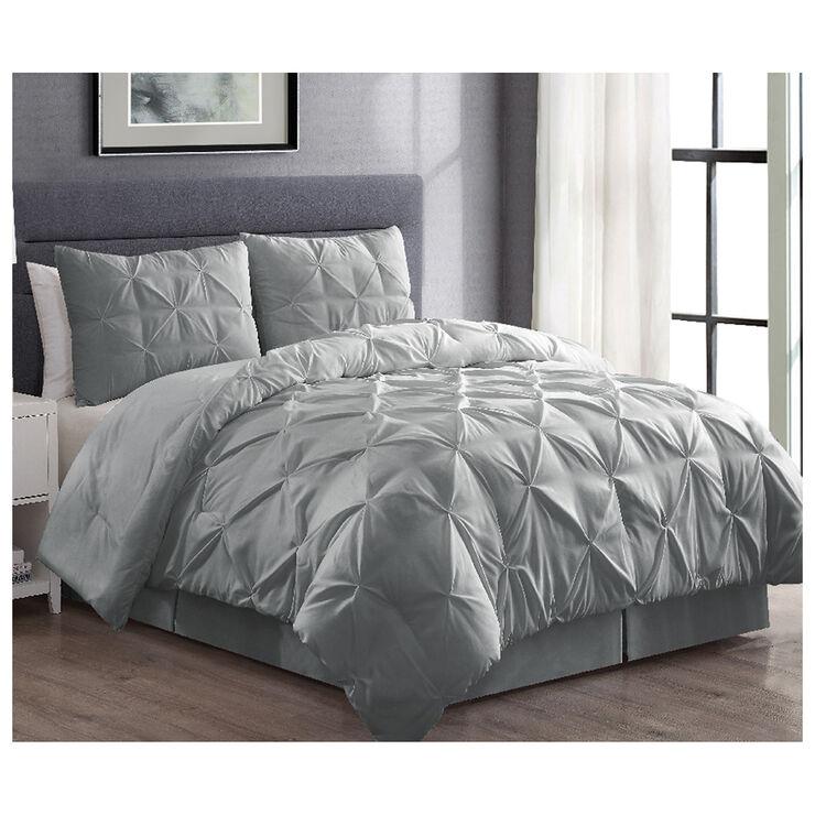 Best 28 Grey Pintuck Comforter Set Pintuck Gray 11