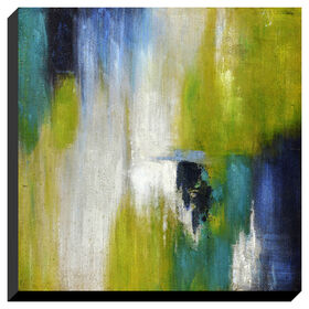 Picture of Blue and Green Abstract Gallery Art Piece- 36x36 in.