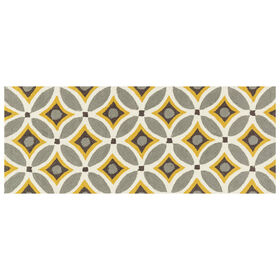 Picture of A28 Grey and Gold Geometric Rug