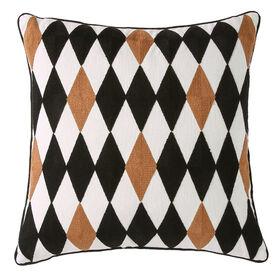 Picture of Tan & Brown Posh Diamond Pillow- 18 in.