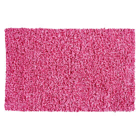 Picture of Pink Shiny Fur Shag Accent Rug 27 X 45-in
