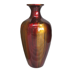 Picture of Red and Orange Bamboo Vase - 19.2 in.