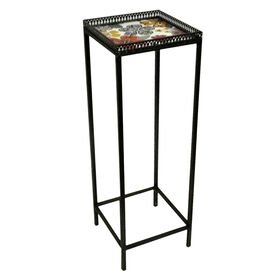 Picture of Nested Square Floral Plant Stand - Small