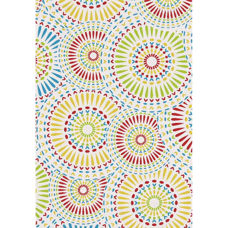 Tribal Colorful Starburst Pattern Rug- 5 x 7