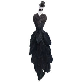 Picture of 11IN GROOM PEACOCK W/HAT CLIP