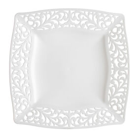 Picture of White Pierced Square Side Plates - set of 10