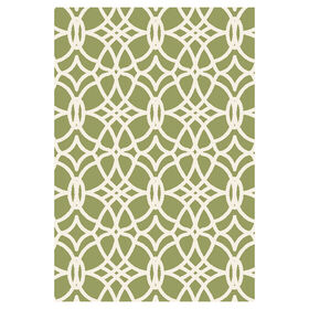 Picture of Green and Ivory Othello Tributary Rug 5 X 7 ft