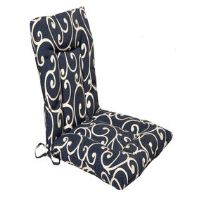 Picture of Paxton Denim Wrought Iron Hinged Chair Cushion