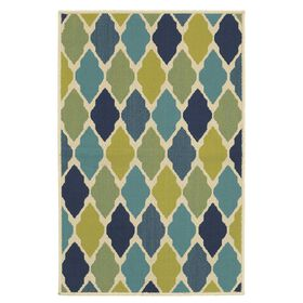 Picture of Blue Argyle Utility Rug 29 X 45-in