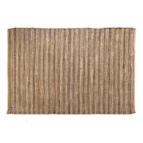 Picture of B195 Black Stripe Jute Rug