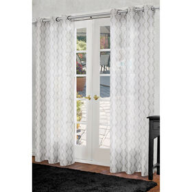 Picture of Bombay Sheer Curtain Panel- Pearl 84-in