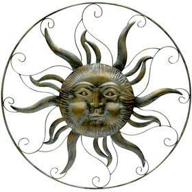 Picture of 32 in. Metal Round Sun Face Wall