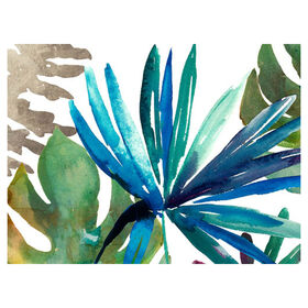 Picture of Tropical Blue and Green Canvas Wall Art- 36x24 in.