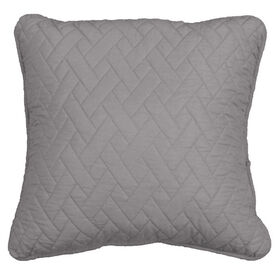 Picture of Grey Quilted Pillow - 18in
