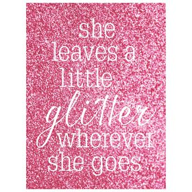 Picture of Leaves Glitter Canvas Art with Sparkling Foil- 18x24 in.