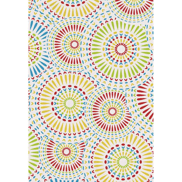 Multi-Color Burst Pattern Indoor/Outdoor Rug- 3 x 5-in