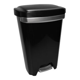 Picture of 12.5 Gallon Premium Step-On Trash Can - Black
