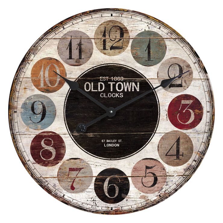 23-in Old Fashion Color Clock