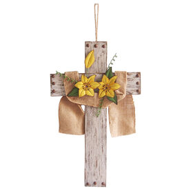 Picture of Wood and Metal Cross- 16 in.