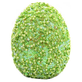 Picture of 4.5IN GREEN SEQUIN BEADED EGG