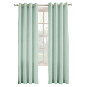 Picture of Aqua Donovan Window Curtain Panel 84-in