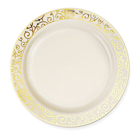 Picture of 7.5-in Venetian Gold and Bone Side Plates - set of 10