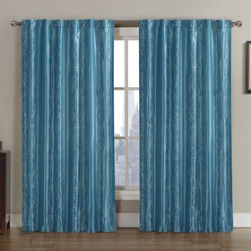 Picture of Carlin Interlined Blue Curtains- 84-in