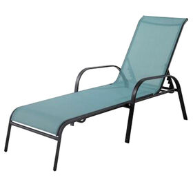 Picture of Steel Sling Chaise - Spa Blue