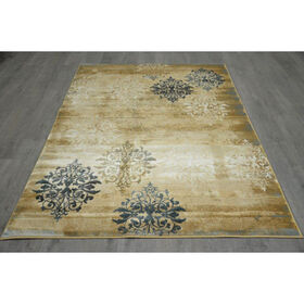 Picture of B143 Beige Opus Damask Rug