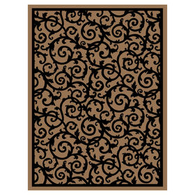 Picture of E41 Taupe and Black Rug