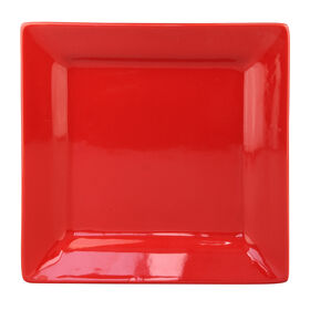 Picture of S/4 SQR SALAD PLATE RED